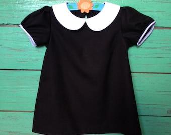 Girl mod dress - peter pan collar Black MOD dress