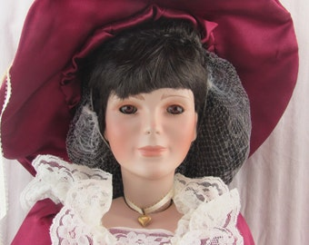 "Jacqueline, Norma Rambaud Porcelain Doll, 30"" Tall, World Gallery Doll"