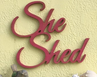 She shed sign, she shed plaque, sign for women, shed signs,garden signs,wood she shed signs, shabby chic signs, signs for private spaces