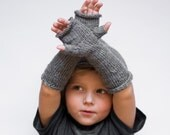 Grey kids arm warmers, toddler arm warmers, kids fingerless gloves, toddler wrist warmers grey kids mittens long kids mittens, onward onward