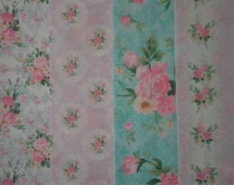 Floral Wafer Paper Sheets, Shabby Chic Wafer paper ,Floral wafer paper, Icing sheets, Edible Image, Cake Image,