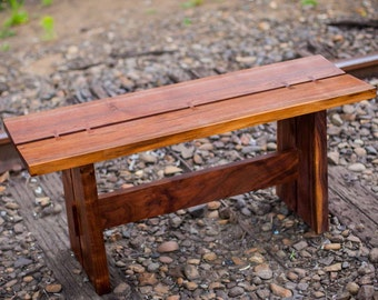 Butterfly Trestle Bench