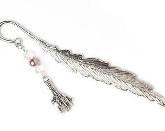 Beaded Feather Bookmark | Beaded Bookmark | Metal Feather Bookmark | Bookmark Gift Idea |