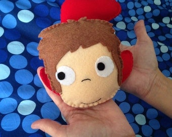 Handmade felt doll Ponyo (unofficial)8 inches stuffed soft toy plushie christmas gift birthday idea to collect plush