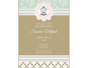 Birdcage Party Invitations, (Set of 20)