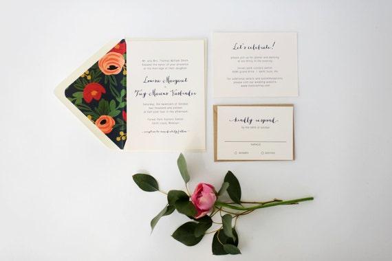 louisa wedding invitation sample set   // lola louie paperie