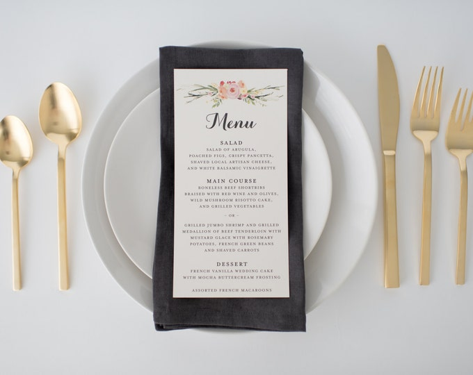 maeve wedding menus (sets of 10)  // lola louie paperie