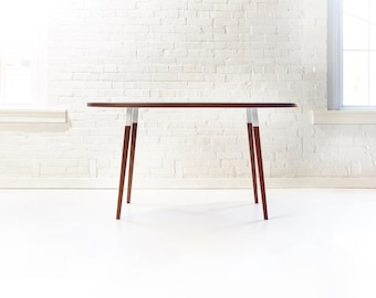 Sunny Side Up Oval Dining Table - Minimal Mid-Century Modern Table