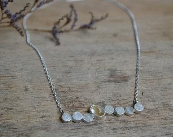 Rutilated Quartz + Sterling Silver Scatter Necklace