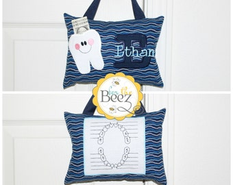 Tooth Fairy Pillow, Personalized Tooth Fairy Pillow, Boys Tooth Fairy Pillow, Tooth Fairy Pillow for Door