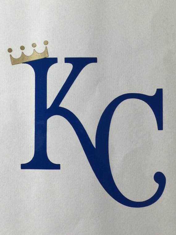 Kansas City Royals Vinyl Decal Kc With Crown Bumper