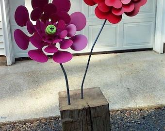 Steel Flower Sculpture