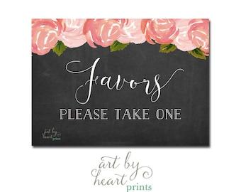 Wedding Favors Sign / Bridal Shower Favors Sign / Baby Shower Favors Sign Chalkboard Printable INSTANT DOWNLOAD