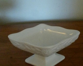 Milk Glass Candy Dish