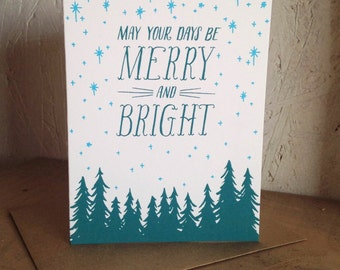 May Your Days Be Merry And Bright Christmas Card BOX SET/6