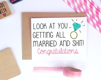 Wedding Gift List Message Funny : funny wedding card wedding congratulations card card for bride getting ...