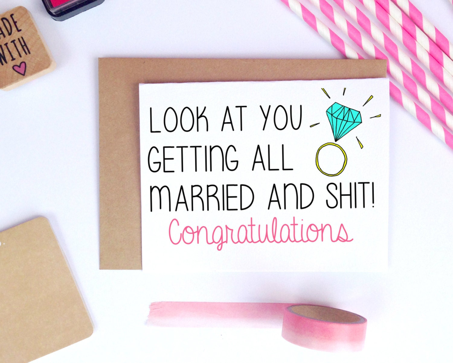 Funny Wedding Card Congratulations For