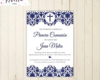 invitaciones de primera comunion hombre