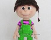 Little baby girl, amigurumi crochet pattern