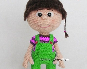 Little baby girl, amigurumi crochet pattern