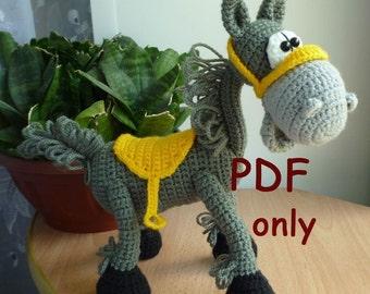 Mustang, amigurumi crochet pattern