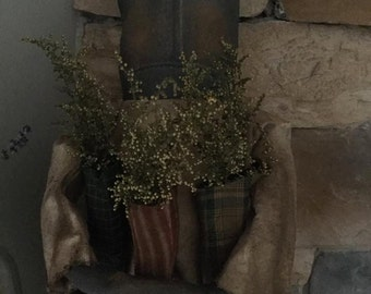 Made to Order: Exteme Primitive Christmas Doll with Stockings