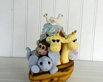 Fondant Noah's Ark Cake Topper