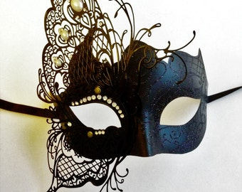 Black Butterfly Costume Masquerade Mask, Halloween Costume, Masquerade Ball Mask