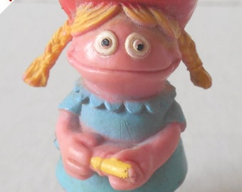 Vintage Sesame Street Character Figurine Betty Lou HARD TO FIND