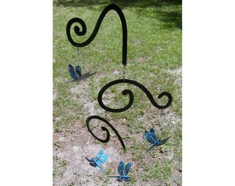 Spinning Color-Changing Dragonfly Metal Garden Porch Mobile Suncatcher