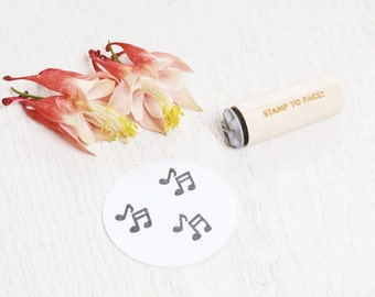 Music Notes - Mini Rubber Stamp - Quarter and Eight Notes