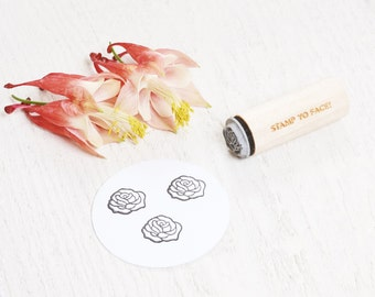 Mini Rubber Stamp Petite Thank You Hand Lettered Rubber