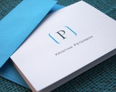 Folded Notecards -- Initially Appealing // Custom Notecards // Personalized Stationery // Monogram Stationery // Custom Stationery