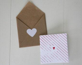 greeting card   heart   grey