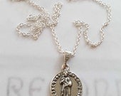 Necklace - St James of Compostela - Sterling Silver 16mm + 18 inch Sterling Silver chain