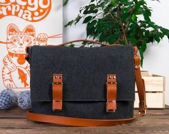 "Macbook 13 Pro bag, Laptop case, 15"" laptop bag, Custom size briefcase, Student laptop bag"