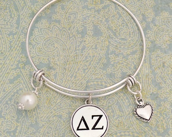 Delta Zeta Memory Wire Bracelet - SRDZ56953