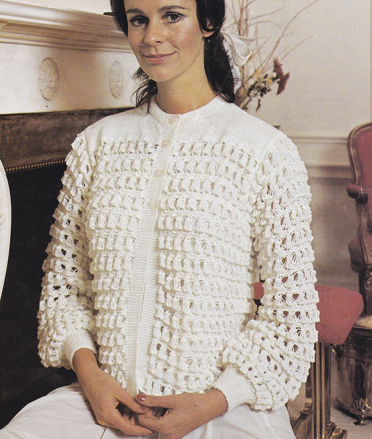 PDF bedjacket vintage knitting pattern bed jacket dressing