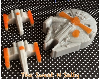 Star Wars Inspired Millennium Falcon & X-Wing Fighter Soap Gift Set
