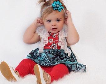 Turquoise Headband Christmas, Turquoise and Silver Headband for Girls, Baby Headband Blue, Blue Headband Baby Girl, Birthday Headband