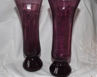 Purple Vase Glass Amethyst Vase Glass Vases 1960s-70s