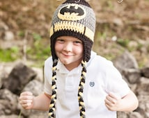 Batman Hat Character Hat DC Comics Halloween Costume Dark Knight Crocheted