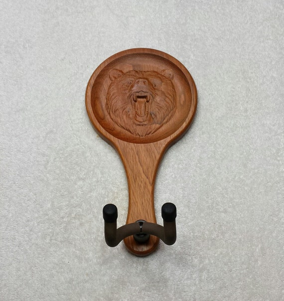 Items similar to guitar hanger brazilian cherry wood