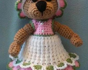 Crochet Amigurumi Miss Bear