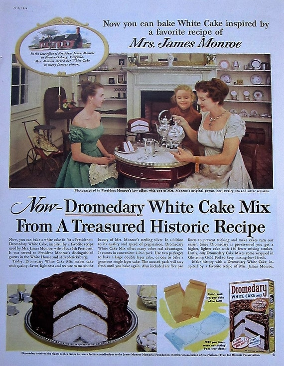 1956 Dromedary Cake Mix Vintage Advertisement Kitchen Wall Art