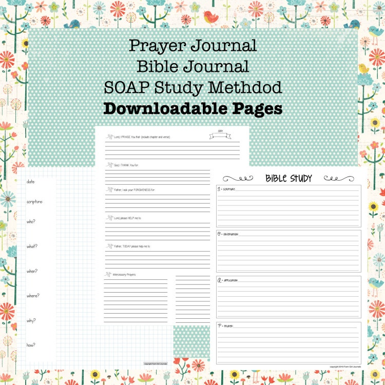 Légend image for printable prayer journals