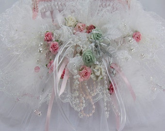 Shabby Chic Flower Girl Wedding Basket
