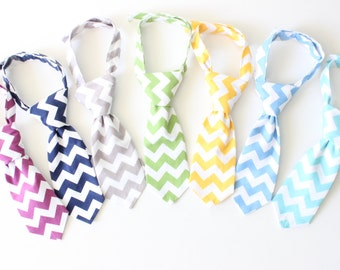 Boys necktie, neck tie, toddler neck tie, baby necktie, chevron, lots of colours to choose from!