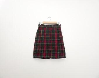 Vintage 1990s Rampage Schoolgirl High Waisted Mini Skirt Size S