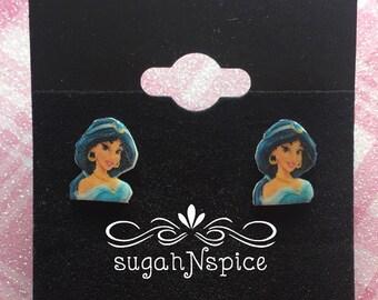 Jasmine Earrings - Disney Princess Earrings - Princess Jasmine - Aladdin Earrings - Little Girl Earrings - Princess earring - Jasmine Posts